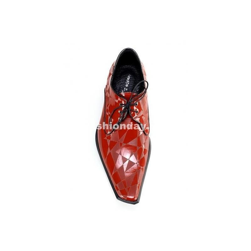 f3e05ec5fb89 Pánske kožené extravagantné topánky červené - fashionday.eu