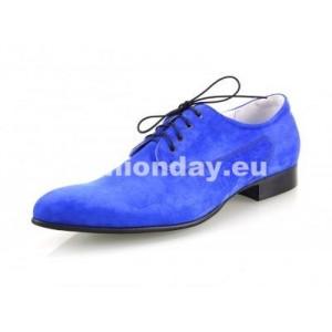 Pánske kožené extravagantné topánky modré