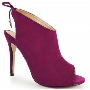 Dámske semišové topánky v čiernej farbe s otvorenou špičkou ... c655672cdba