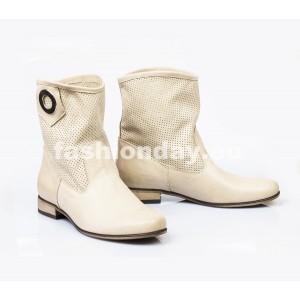 Dámske kožené topánky béžové DT009