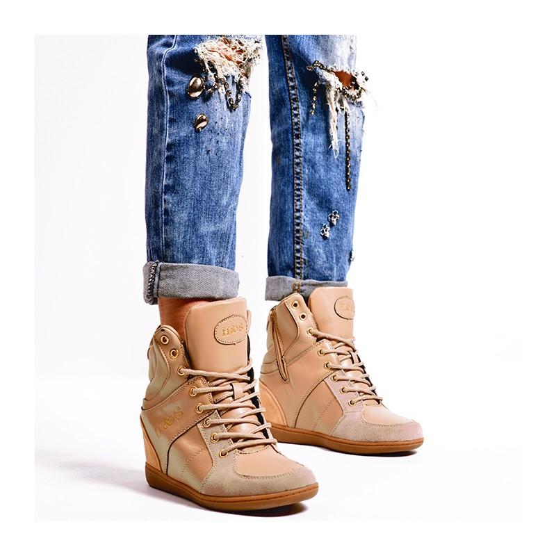 Prechodné dámske členkové topánky v hnedej farbe - fashionday.eu 3f80fd76457