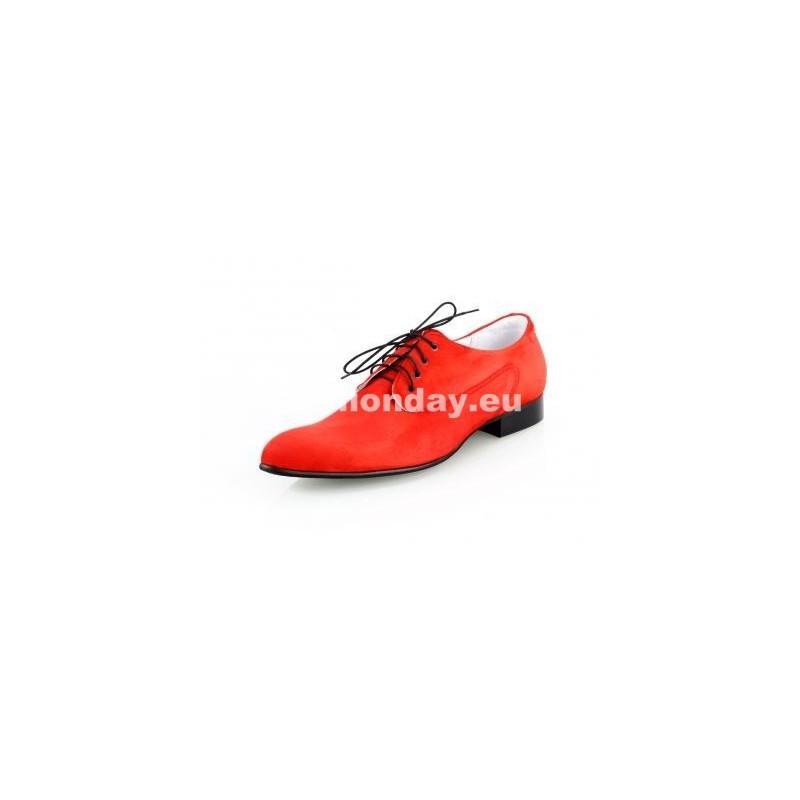 2561cfcccd49 Pánske kožené extravagantné topánky červené - fashionday.eu