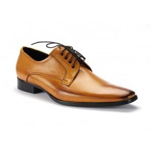 Pánske kožené šnurovacie topánky žltej farby COMODO E SANO