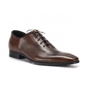 Hnedé pánske spoločenské topánky COMODO E SANO