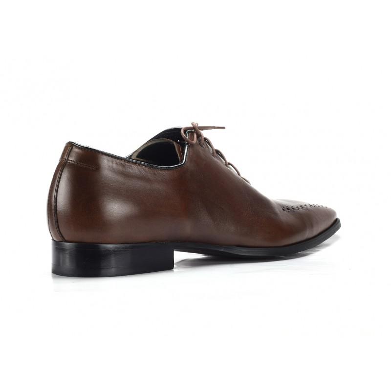 Hnedé pánske spoločenské topánky COMODO E SANO - fashionday.eu 93462fcf74e