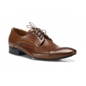 Kožené spoločenské topánky hnedé COMODO E SANO