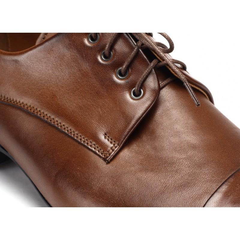 b4a9863f0e9 Kožené spoločenské topánky hnedé COMODO E SANO - fashionday.eu