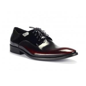 Čierne spoločenské topánky vyrobené z pravej kože COMODO E SANO