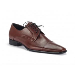 Pánske kožené spoločenské topánky v hnedej farbe COMODO E SANO