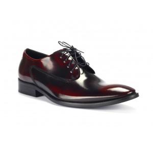 Pánske čierno červené luxusné kožené topánky COMODO E SANO