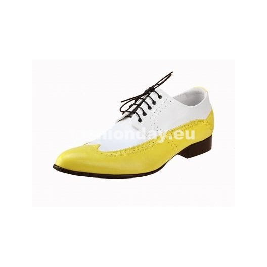 Pánske topánky - bieložlté