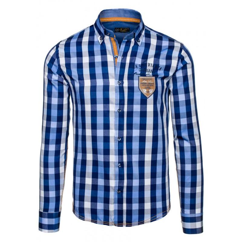 28f92991212e ... košeľa s dlhým rukávom modrej farby s nášivkou vpredu. Predchádzajúci