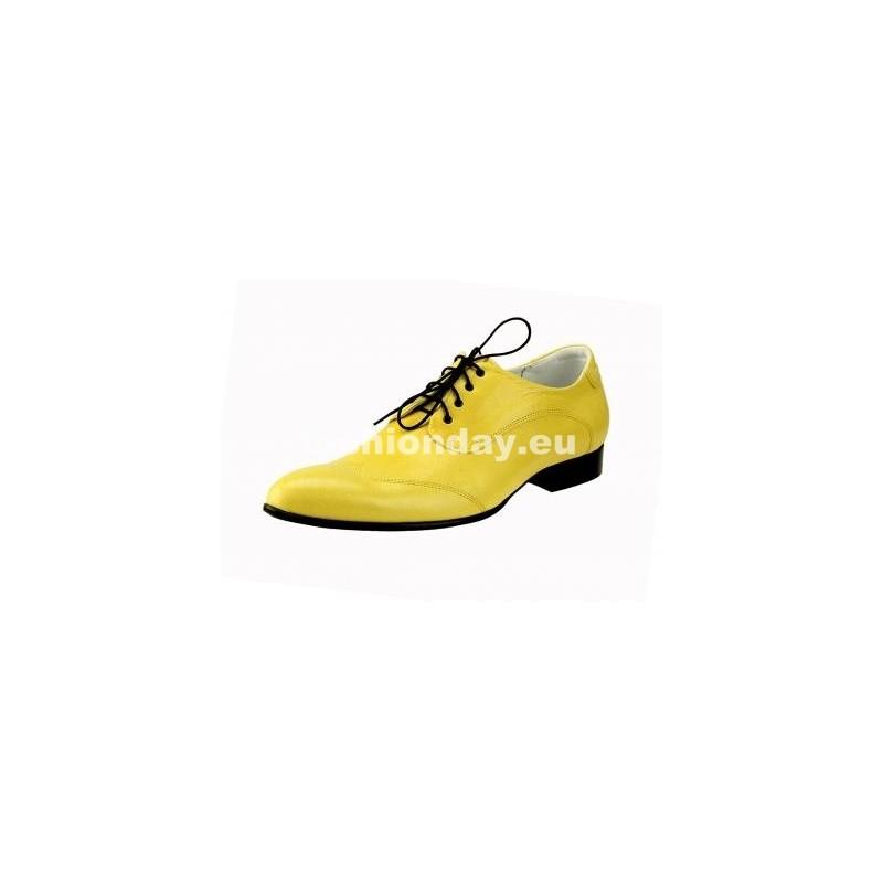 bebb526137 Pánske kožené extravagantné topánky žlté - fashionday.eu