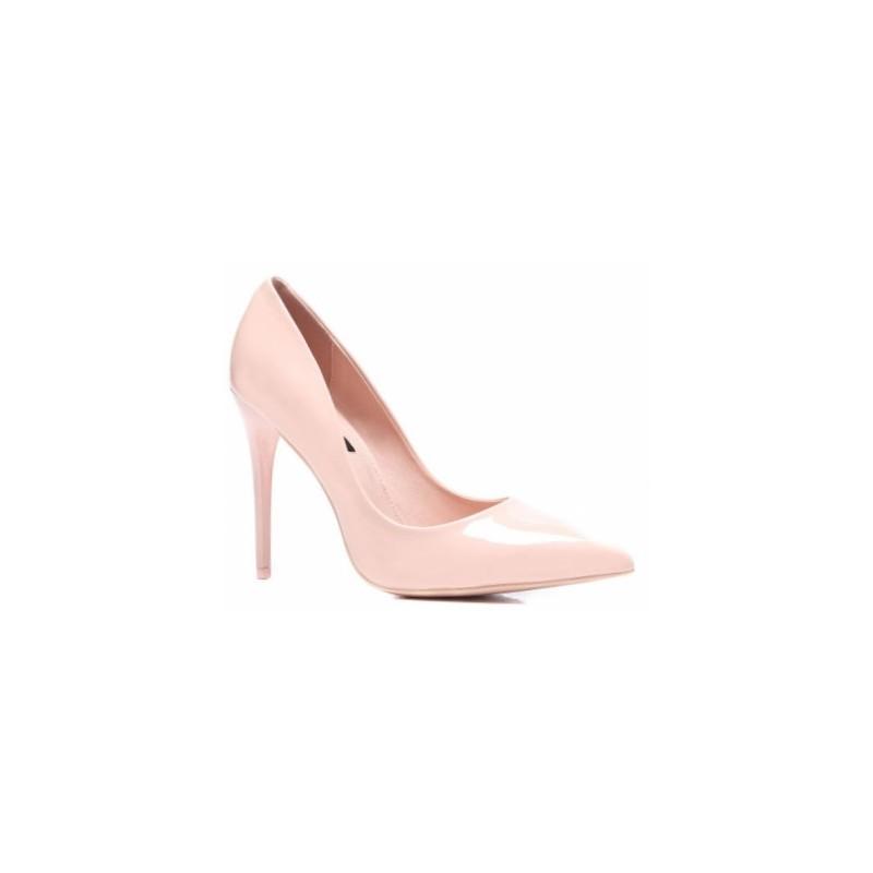 3717f21a51 Lakované lodičky dámske v svetlo ružovej farbe - fashionday.eu