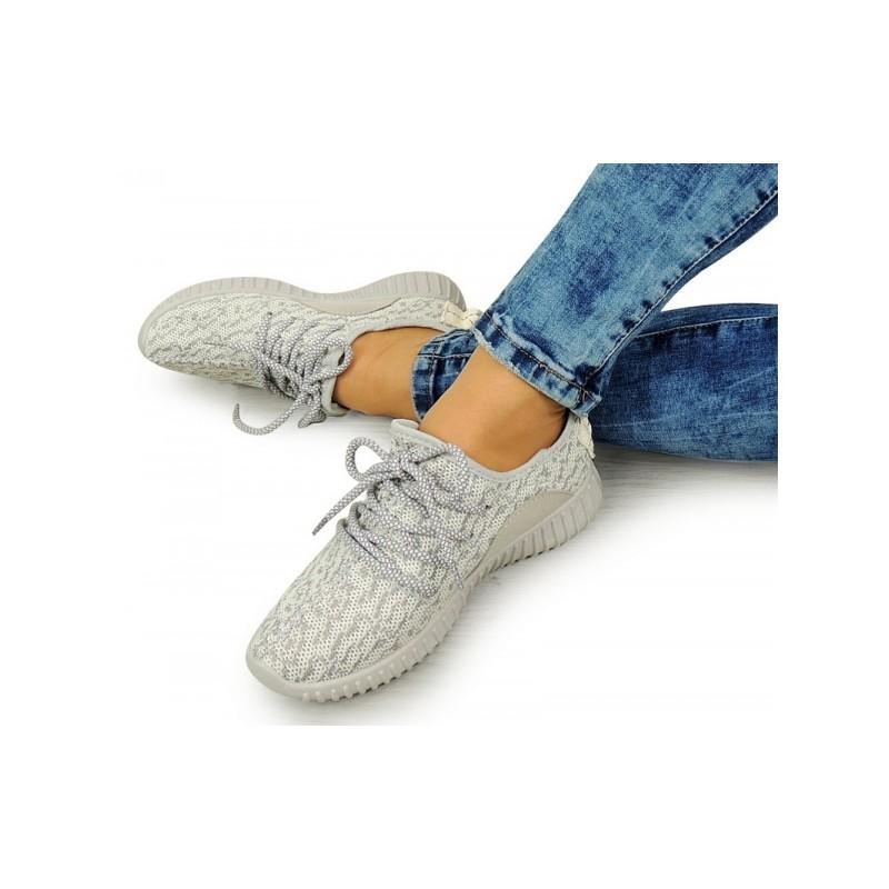 b28b4b4ad712 Pohodlné sivé dámske športové tenisky na voľný čas - fashionday.eu