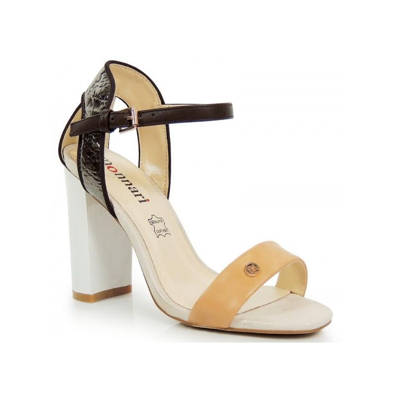 e9dd50c6032b Elegantné dámske sandále hnedej farby - fashionday.eu
