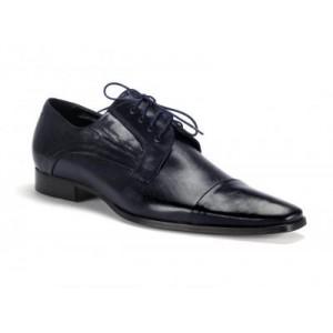 Spoločenské pánske kožené topánky COMODO E SANO tmavo modrej farby