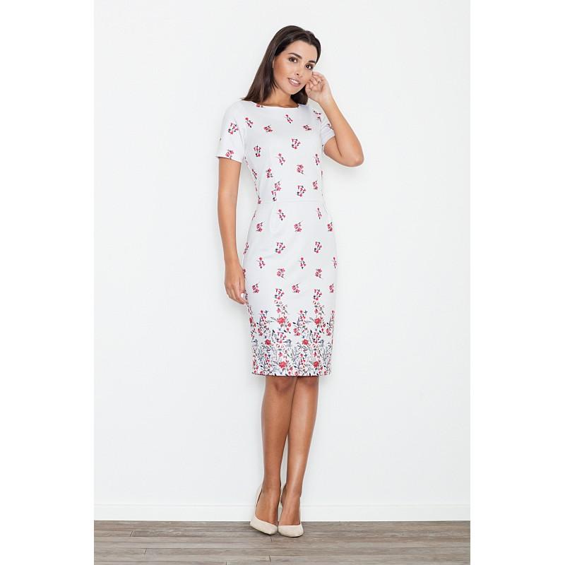 64673ae7978d Biele dámske letné šaty s kvietkami - fashionday.eu