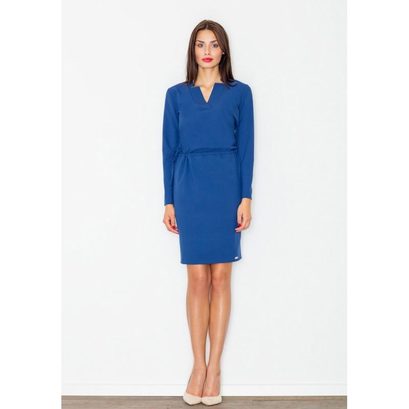 Modré dámske šaty nad kolená - fashionday.eu 92f6bf0d725