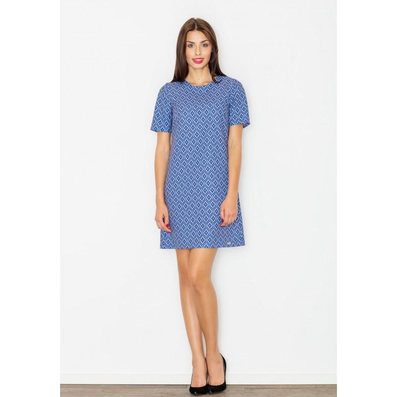d5143631e029 Modré dámske letné šaty s geometrickým vzorom - fashionday.eu