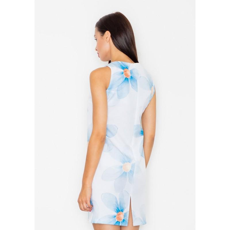 Biele dámske letné šaty s motívom kvetov - fashionday.eu 8b7eb40c0d9