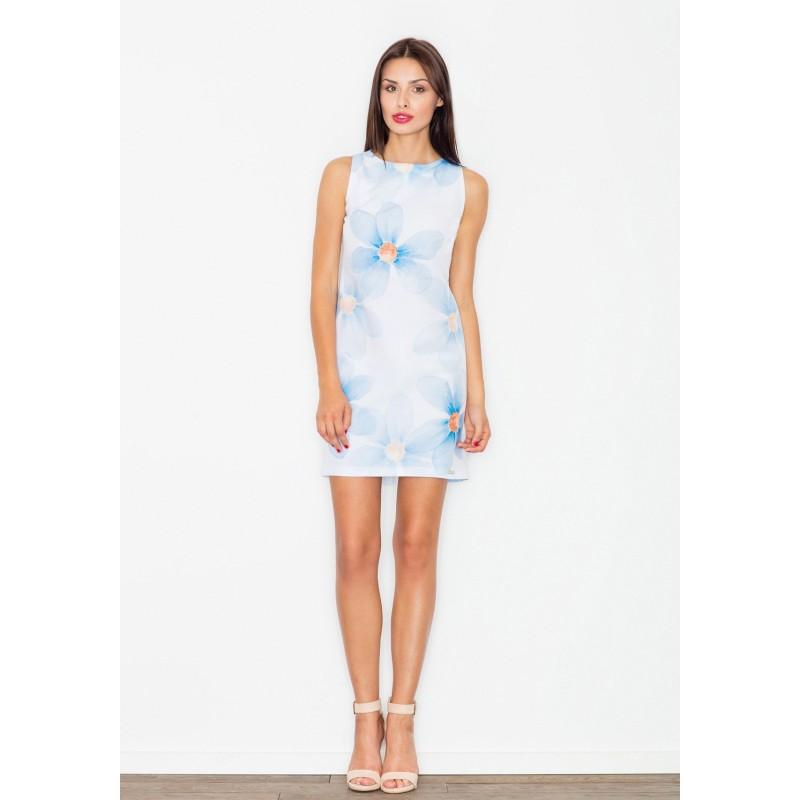 edacb7be8349 Biele dámske letné šaty s motívom kvetov - fashionday.eu