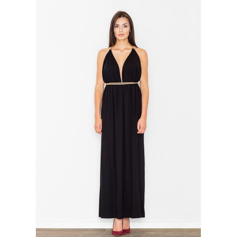 3f26b25c5 Čierne dlhé dámske šaty na ples - fashionday.eu