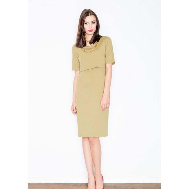 69c21226e83a Predchádzajúci. Spoločenské dámske šaty po kolená zelenej farby ...
