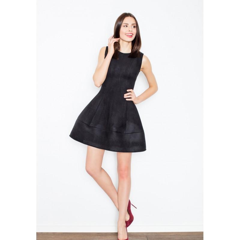 1c8cb19ee5c9 Áčkové dámske šaty čiernej farby - fashionday.eu