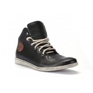 Pánske kožené topánky čiernej farby na bežné nosenie COMODO E SANO