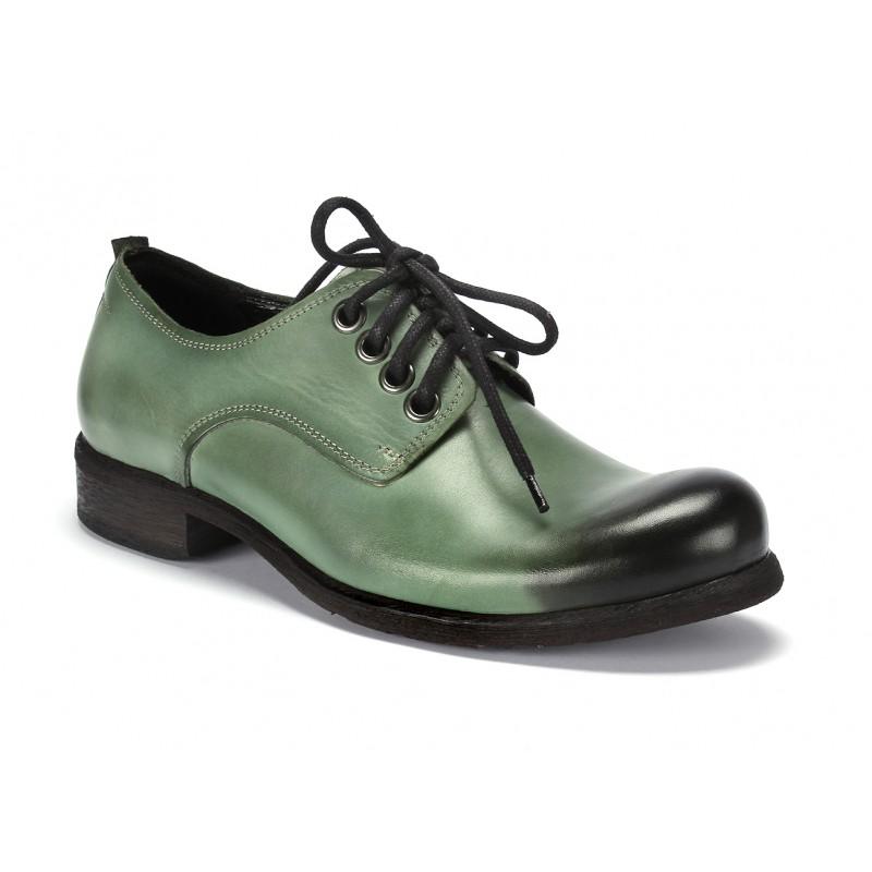 Kožené pánske topánky na šnurovanie v zelenej farbe COMODO E SANO ... 1d6df2a2c9a