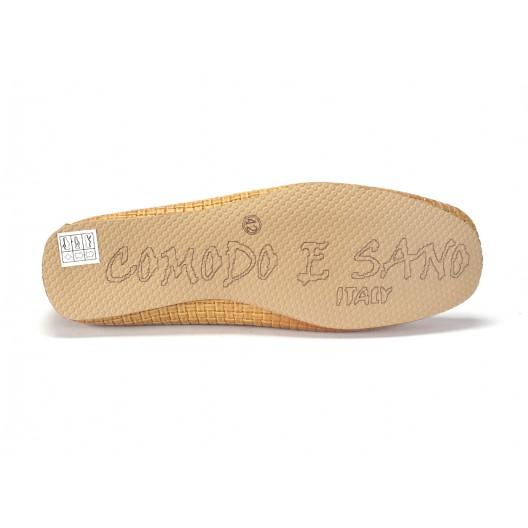 Žlté kožené mokasíny pre pánov COMODO E SANO