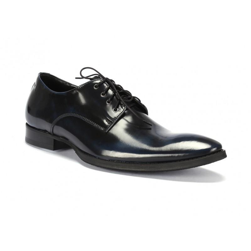 Predchádzajúci. Pánske kožené elegantné topánky COMODO E SANO čierno modrej  farby ... 4b577ff9358