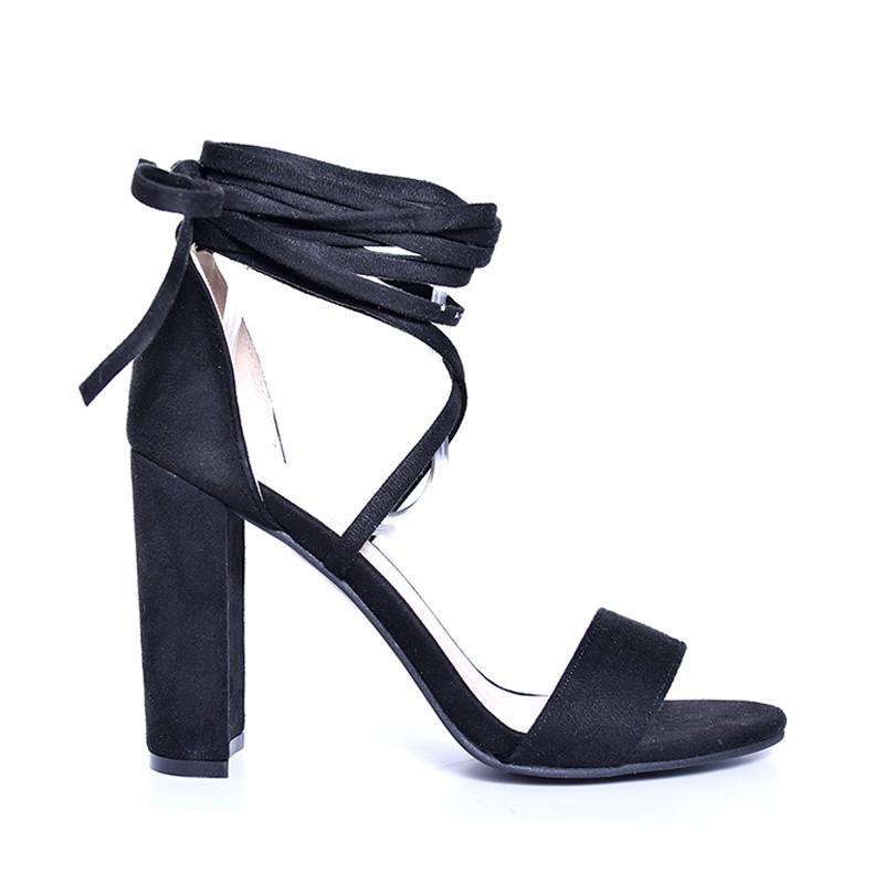 b03025f403e8 Predchádzajúci. Elegantné dámske sandále na podpätku čierne ...