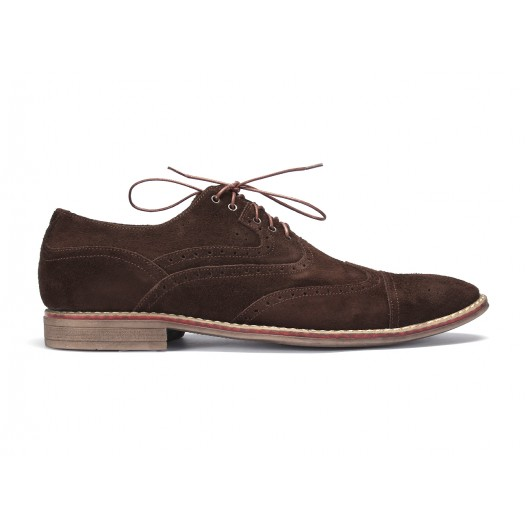 Hnedé prešívané kožené topánky na šnurovanie COMODO E SANO