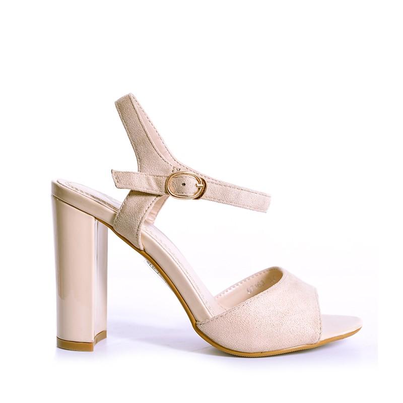 d3d6b68c34 Predchádzajúci. Béžové dámske sandále na vysokom podpätku ...