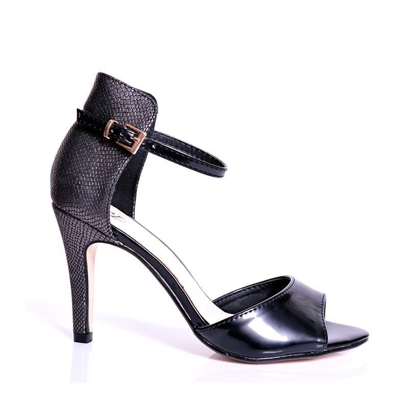 9fd6e99373 Predchádzajúci. Letné čierne dámske sandále na podpätku ...