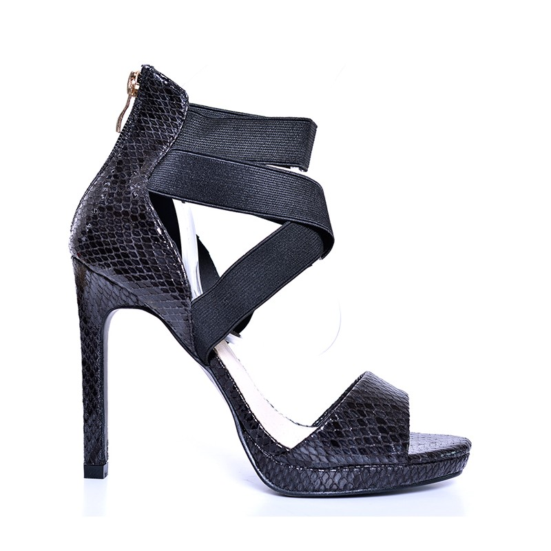 7bd66ef74f53 Predchádzajúci. Elegantné čierne dámske sandále na vysokom podpätku ...