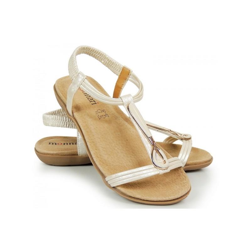 ac8ed11794b1 Zlaté dámske sandále s otvorenou špičkou a pätou - fashionday.eu