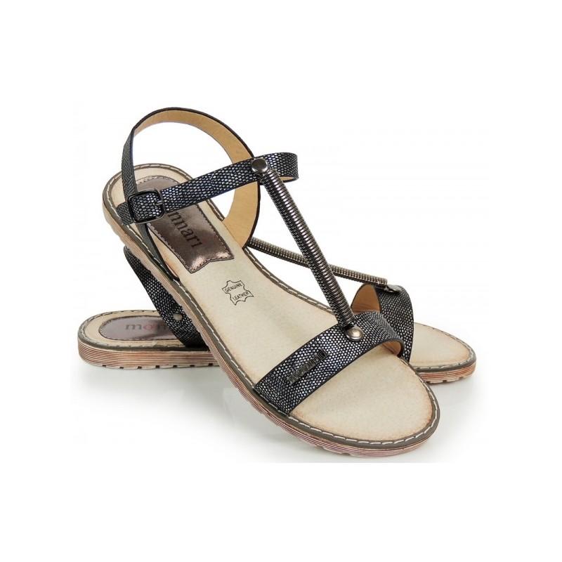 0cd6ec39d Čierne dámske sandále s aplikáciou pružiny - fashionday.eu