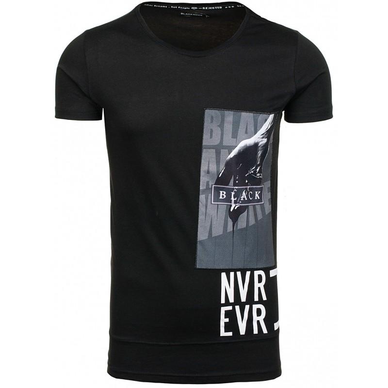 ad864e4ad94d Predchádzajúci. Čierne pánske tričko s krátkym rukávom ...