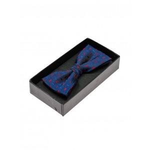 Modré látkové pánske motýliky k obleku