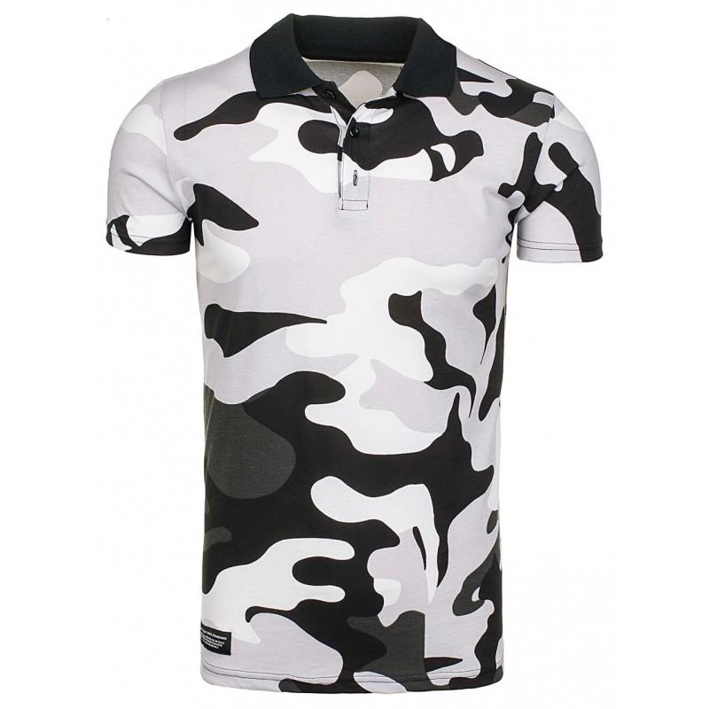 fb62db9ad58f Sivé polo tričká s army motívom - fashionday.eu