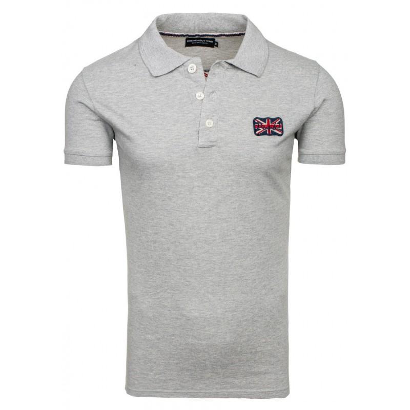 c2519935ed28 Bavlnené sivé polo tričko s krátkym rukávom - fashionday.eu