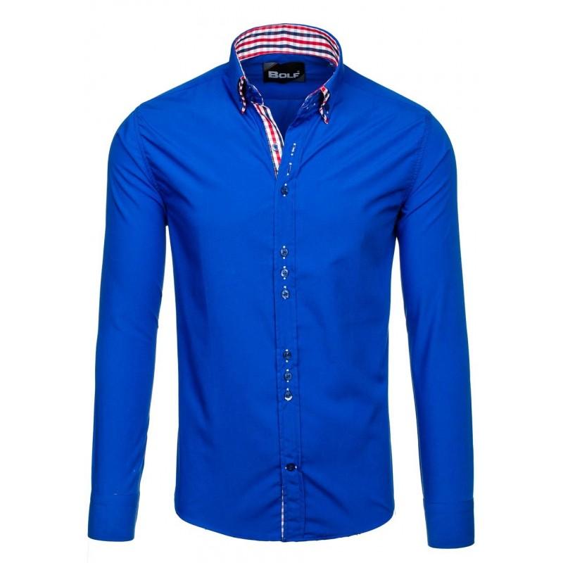 8b86aac9c9d9 Predchádzajúci. Moderné pánske košele modrej farby ...