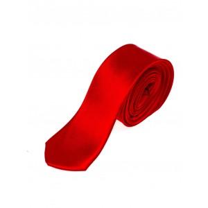 Úzke pánske kravaty v červenej farbe