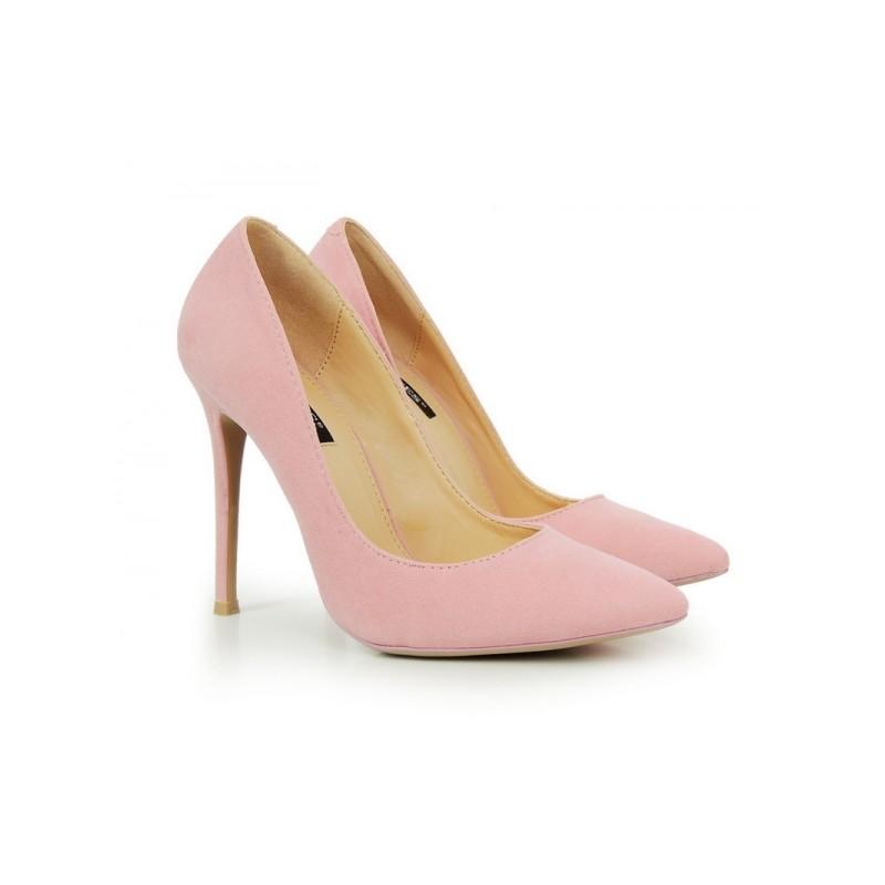 57500995d8 Predchádzajúci. Ružové dámske lodičky semišové ...
