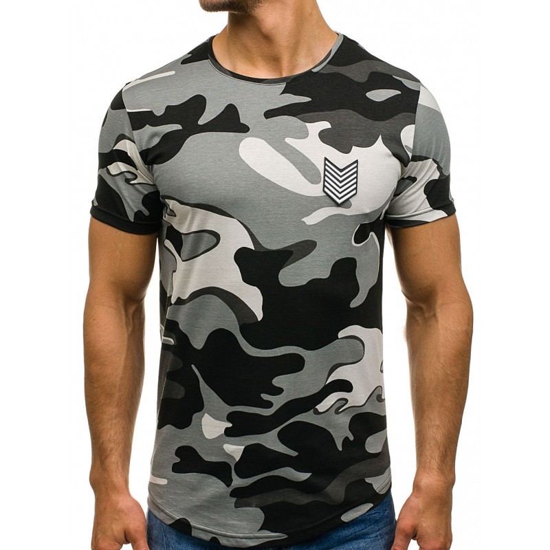 d18205018 Zeleno sivé pánske army tričko - fashionday.eu