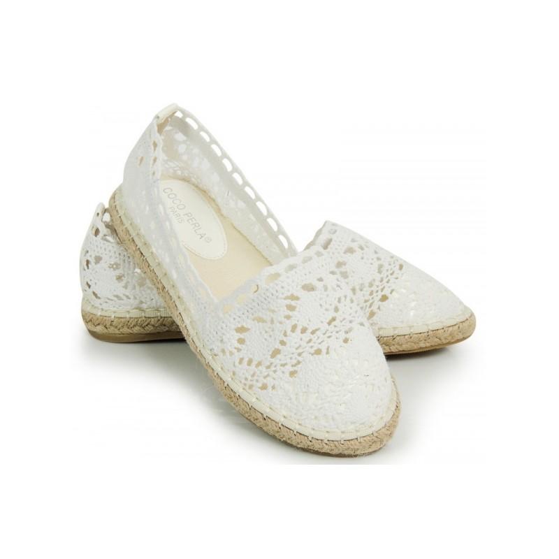 8d1b9c13eefa Letné háčkované espadrilky bielej farby - fashionday.eu