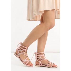 Štýlové dámske gladiátorky ružovej farby